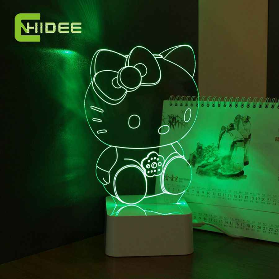 CNHidee New Design Crystal Lampe Novelty Art Decor 3d Lamp
