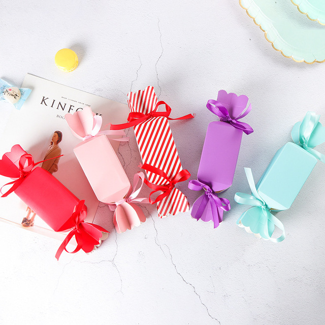 Us 2 15 10pcs Pack Cute Mini Solid Color Candy Gift Boxes Wedding Birthday Candy Packing Box Party Favors Giveaway Paper Boxes 4 4 8cm In Gift Bags