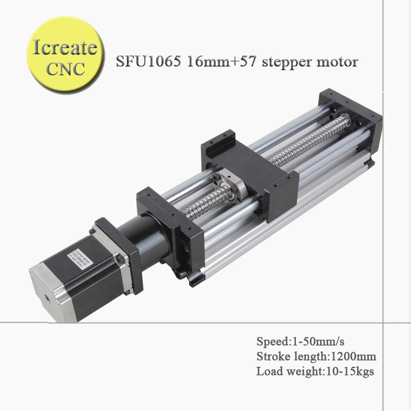 FREE SHIPPING 1200mm travel length linear guide rail cnc Stage Linear Motion Moulde Linear Ballscrew 1605 name 23 stepper motor belt driven guided linear actuator any travel length linear motion motorized linear stage heavy duty belt driven stage