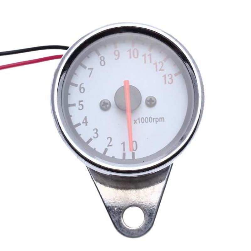 CARCHET Dual Odometer Speedometer + Tachometer Motorcycle with Backlight