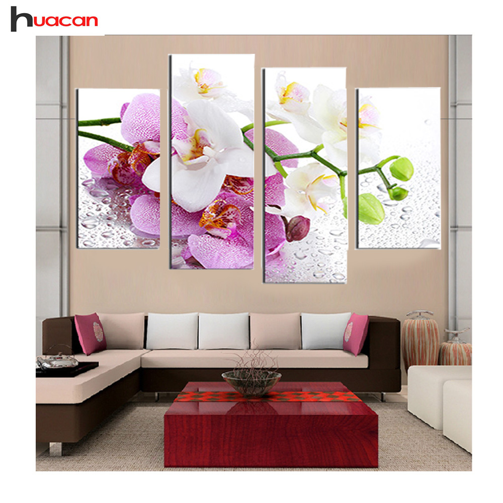Buy diamond embroidery flower glory home for Home decoration pieces