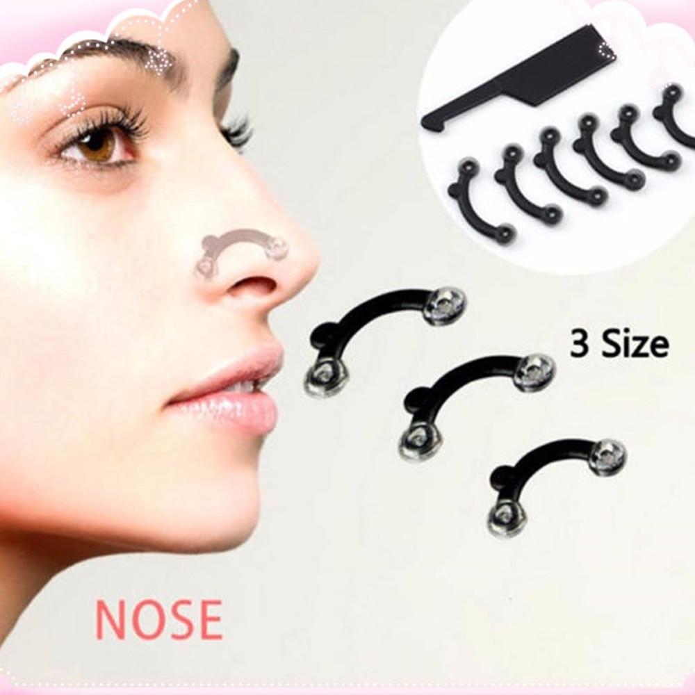 6PCS/Set 3 Sizes Beauty Nose Up Lifting Bridge Shaper Massage Tool No Pain Nose Shaping Clip Clipper Women Girl Makeup Tool