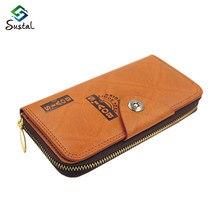 Femmes portefeuilles et sacs à main 2015 mode rétro Multi – carte Bit pu portefeuille longue Section d'embrayage portefeuilles femmes Z5