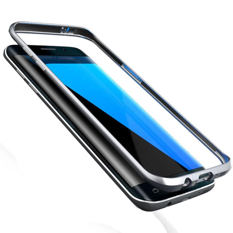 2017 Aluminum Metal Fitted skin Ultra Thin Slim Cover Case for Samsung Galaxy S7 Edge phone cases Back Cover Coque Capa