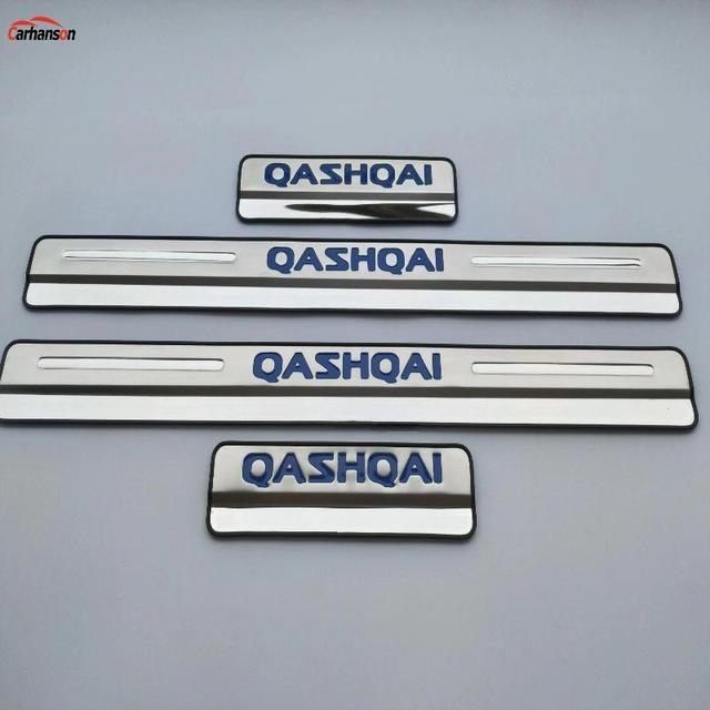 Car Accessories For Nissan Qashqai Door Sill J11 Scuff Plate Stainless Steel Door Sills Pedal Car Styling Sticker 2015 2017 2019