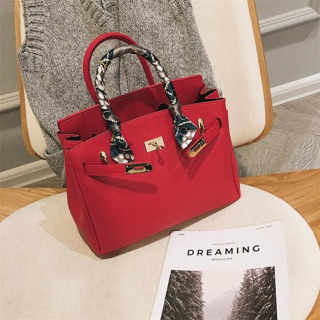 New Quality Leather Women's Luxury Handbag Large Portable Shoulder