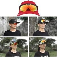 Hiking Cap 2 in 1 Baseball Cap Fishing Glasses Summer Goggles Polarized Adjsutable Vision Night Sunglasses For Fishing Riding