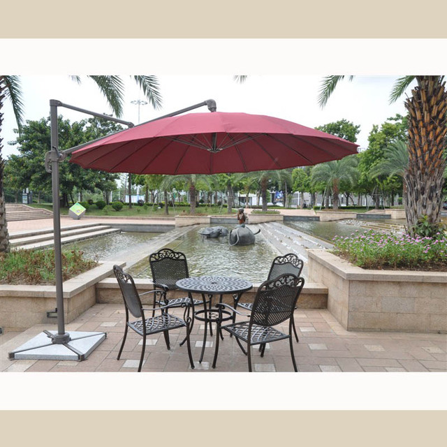 outdoor patio umbrella booth rome round villa sales offices cafes rotatable limited time offer - Outdoor Patio Umbrellas