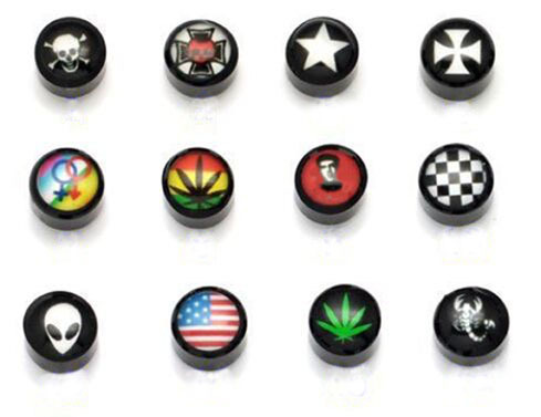 Whole 24pairs Lot Fashion Magnetic 8mm Acryl Stud Earrings Uni Boys S Women Men Round