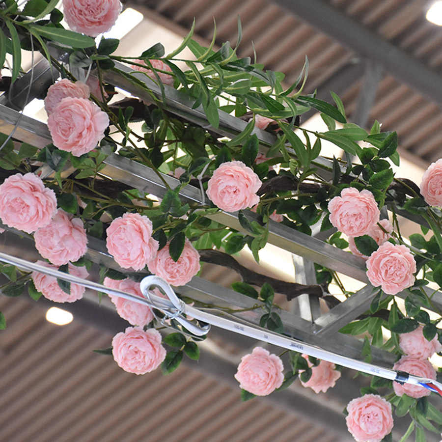 Artificial Rose Peony Silk Flowers DIY Long Branch 3 Heads Peonies Fake Flowers