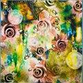 100% Bufanda de Seda Bufanda de Las Mujeres de Rose de La Bufanda Pañuelo Pañuelo De Seda 2017 Top Imprime Pequeño Cuadrado de Seda Bufanda Caliente de Regalo de Lujo para Dama