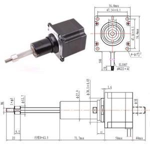 Captive NEMA23 Captive Linear Stepper Motor Linear Actuator stepper motor nema23 56mm non captive linear stepper