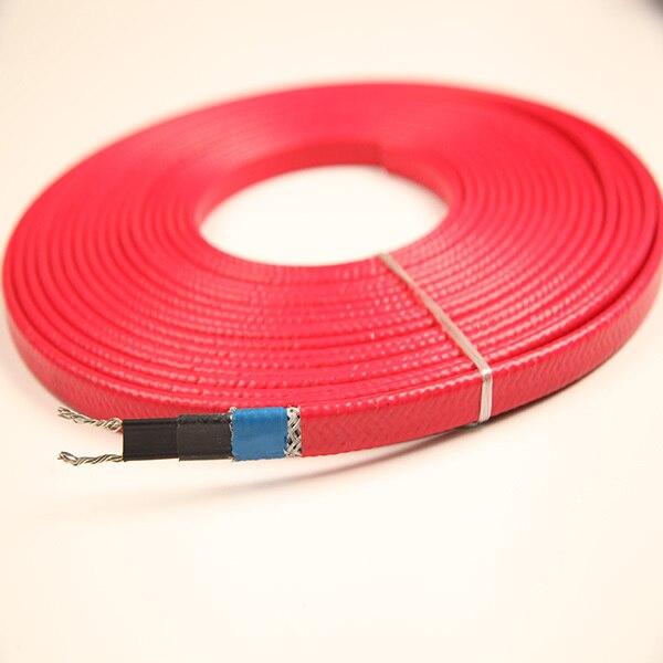 Нагревательный кабель 230 в 12 мм 20 Вт/м 65 C с экранированием экрана и может использоваться внутри водопровода и канализации