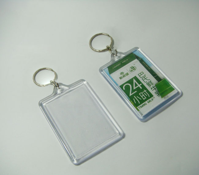 """100pcs Blank Acrylic Rectangle Keychains Insert  Photo Keyrings (Key ring chain)2.25""""x 1.65""""-in Makeup Mirrors from Beauty & Health    1"""