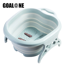 GOALONE Portable Foot Basin Collapsible Washing Spa Bucket Pedicure Bath Soaking Tub Travel Foldable Wash