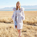 Women Winter Down Coat Hoodie White Duck Down 95% High Quality 100% Fox Fur