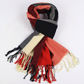 Women scarf warm winter lattice thick ear leisure brand cotton blends scarves adult fashion shawl 200 * 60cm