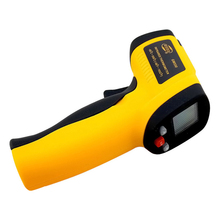 Non-Contact IR Laser Temperature Infrared Digital Thermometer PU Leather Battery