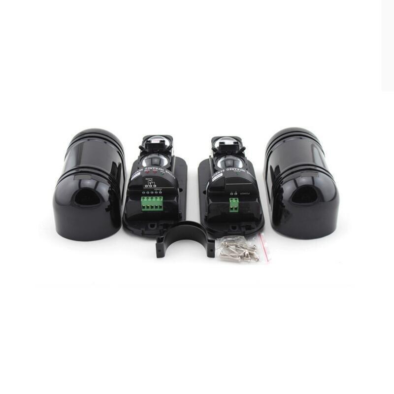 2 travi Fotoelettrico Indoor/Outdoor Barriera Invisibile Dual Beam IR Sensore di Allarme 100m A Raggi Infrarossi Rilevatore di vestito per Allarme sistema di