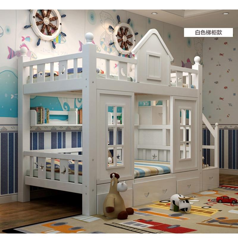 18  0128TB006 Fashionable kids bed room furnishings princess fortress with slide storages cupboard stairs double kids mattress HTB1suqjo vI8KJjSspjq6AgjXXaf