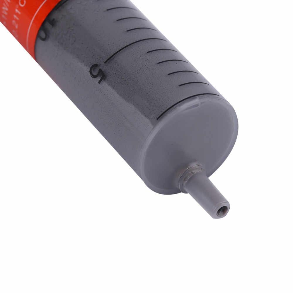 2017 جديد 30g رمادي الحقنة الحرارية الموصلية Hermal الشحوم ل وحدة المعالجة المركزية الحرارة بالوعة لصق أنبوب موصل الجص غرفة تبريد الساخن بيع