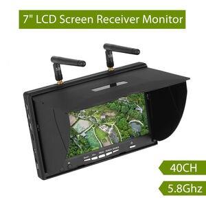 Image 1 - Pantalla de vídeo para multicóptero FPV LCD5802S LCD5802D 5802 5,8G 40CH 7 pulgadas, 800x480 con DVR, batería integrada