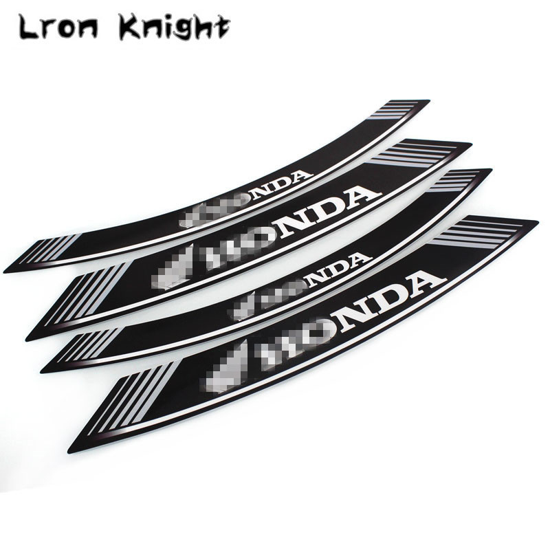 For HONDA X-ADV 750 CRF1000L Aftica Twin/ABS/DCT Hornet 600 CB600F ALL Model Motorcycle rim strips logo Stickers wheel decals maisto 1 18 honda africa twin dct crf1000l motorcycle bike diecast model toy new in box