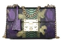 Snake Bag For Women Fashion Shoulder Bag Small Chain Messenger Crossbody Bag Serpentine Leather Crossbody Flap Bag