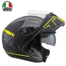 Италия оригинальный бренд agv мотоцикле флип шлем moto gp гонки ABS Off Road Открытый Шлем для Мужчин и Женщин L/XL
