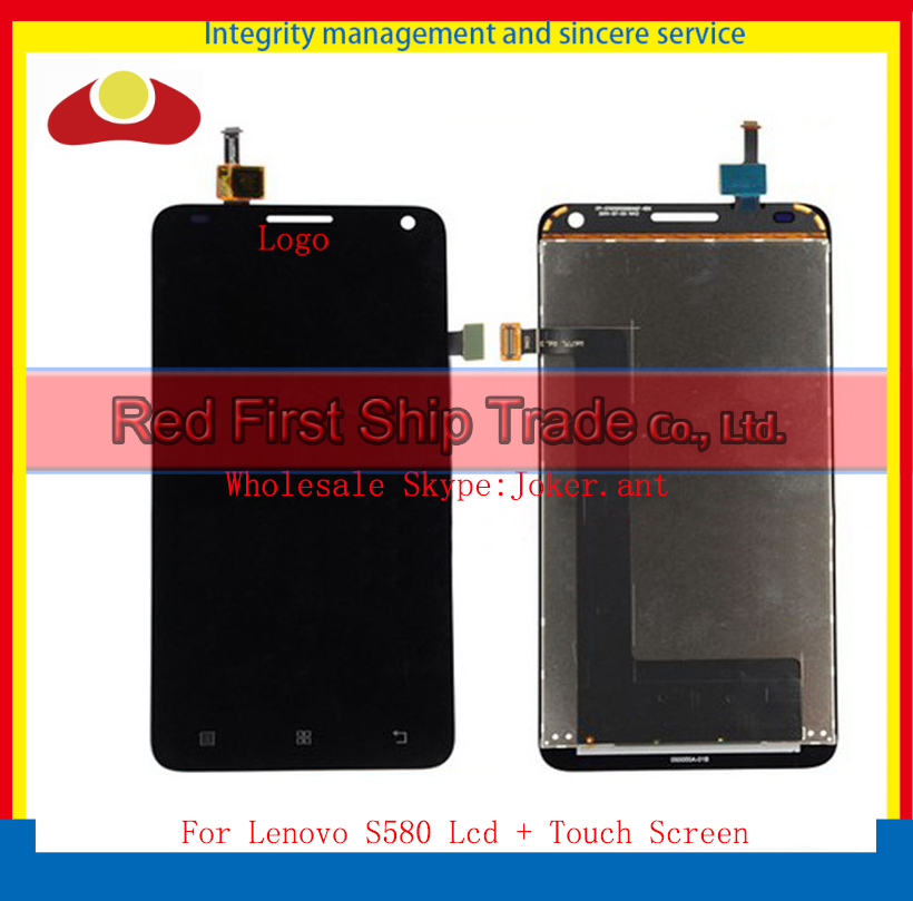 High Quality 5.0 For Lenovo S580 Full Lcd Display Touch Screen Digitizer Assembly Complete Sensor Black White+Tracking Code high quality 5 0 for lenovo s580 full