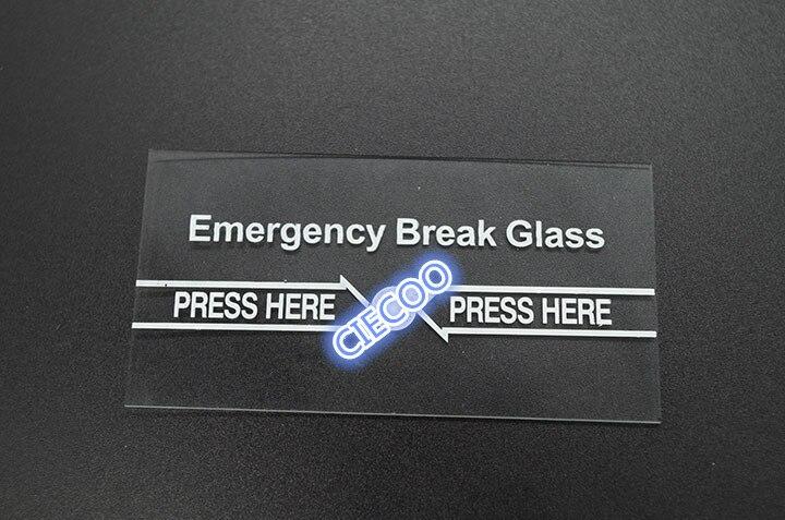 10 Stücke Pro Los Notbremse Glas Zubehör Die Glas Nur