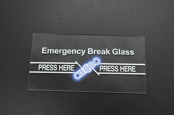 10Pcs Per Lot Emergency Break Glass Accessory the glass only10Pcs Per Lot Emergency Break Glass Accessory the glass only