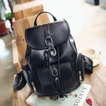 Multifunction Designer Backpacks Women Preppy Book bags Young Girls big Washed Leather Backpack Lady Large Capacity
