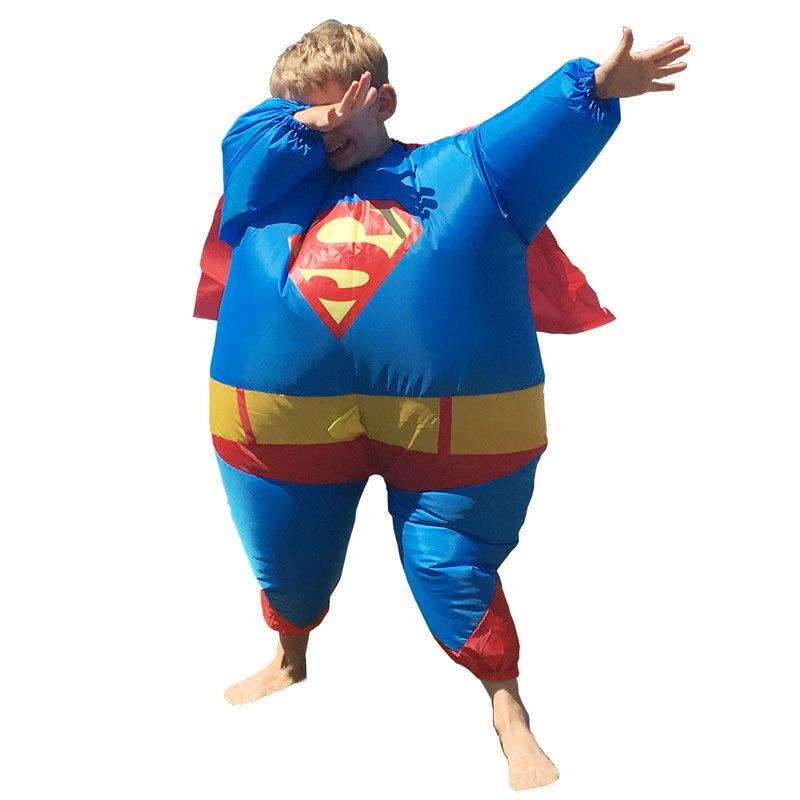 kinder superman aufblasbare superman kost m disfraz infantil karneval cosplay superheld kost m. Black Bedroom Furniture Sets. Home Design Ideas