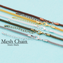 20 pcs - 18 Inch Mesh Chain Necklace, New Snake Necklace Silver Plated, Gold, Bronze, Antique Copper,