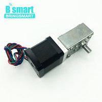 Bringsmart Stepper A58SW 42BY DC Worm Geared Motor 12v For Ratio 1:32 With Micro Self lock Turbine Gearbox 24v Stepping Machine