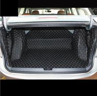 fiber leather car trunk mat for honda city 2014 2015 2016 2017 2018 2019 Grace car accessories