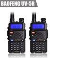 Envío Gratis 2 unids/lote UV5R BAOFENG UV-5R UV 5R Radio de Dos Vías de Doble Banda VHF/UHF 136-174/400-480 MHz Transmisor-Receptor Walkie Talkie
