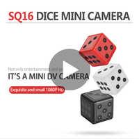 Minicámara de visión nocturna SQ16 SQ 16, minicámara secreta pequeña HD 1080p con Sensor de movimiento