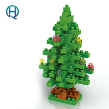 Mini Nano Blocks Christmas Festival LOZ Building Blocks Christmas Tree Decoration Diamond Blocks Compatible Legoelieds Toys 9123