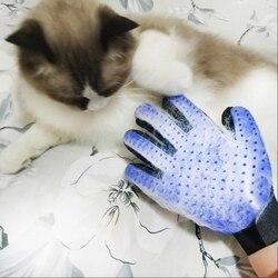 Pincel de silicona para perros y gatos, cepillo para guantes, masajeador, guante para depilación, guante para gato, accesorios para el aseo de animales JK0001