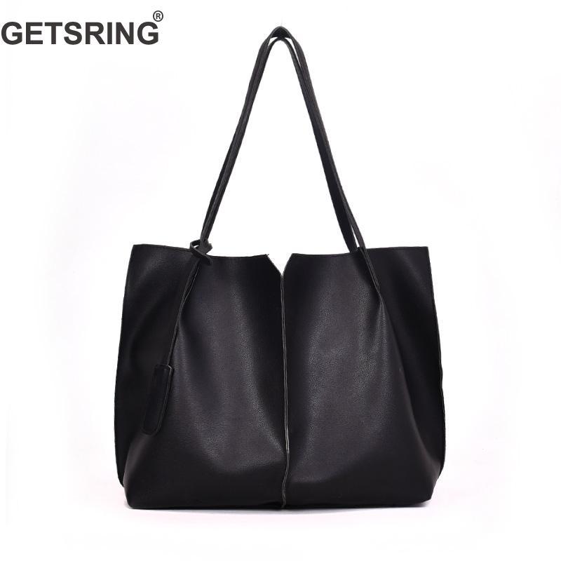 c0383dd382 GETSRING Women Bag Women Handbags Shoulder Bag For Woman 2018 New Pu Black  White Pink Big