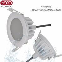 4 יחידות ללא נהג 5 w 7 w 9 w 12 w 15 w 18 w 20 w 30 w LED Downlight AC 110 V 220 V ספוט ניתן לעמעום LED תקרת חדר אמבטיה עמיד למים IP65 אור