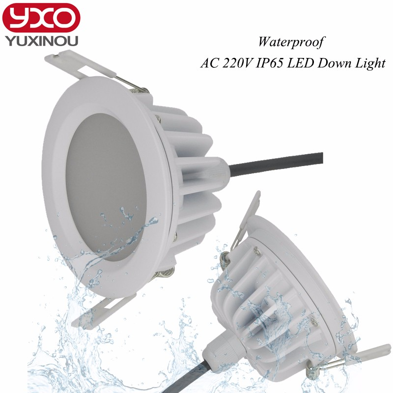 4pcs Driverless 5w 7w 9w 12w <font><b>15w</b></font> 18w 20w 30w <font><b>LED</b></font> Downlight AC 110V <font><b>220V</b></font> IP65 Waterproof Bathroom Dimmable <font><b>LED</b></font> Ceiling Spot Light image