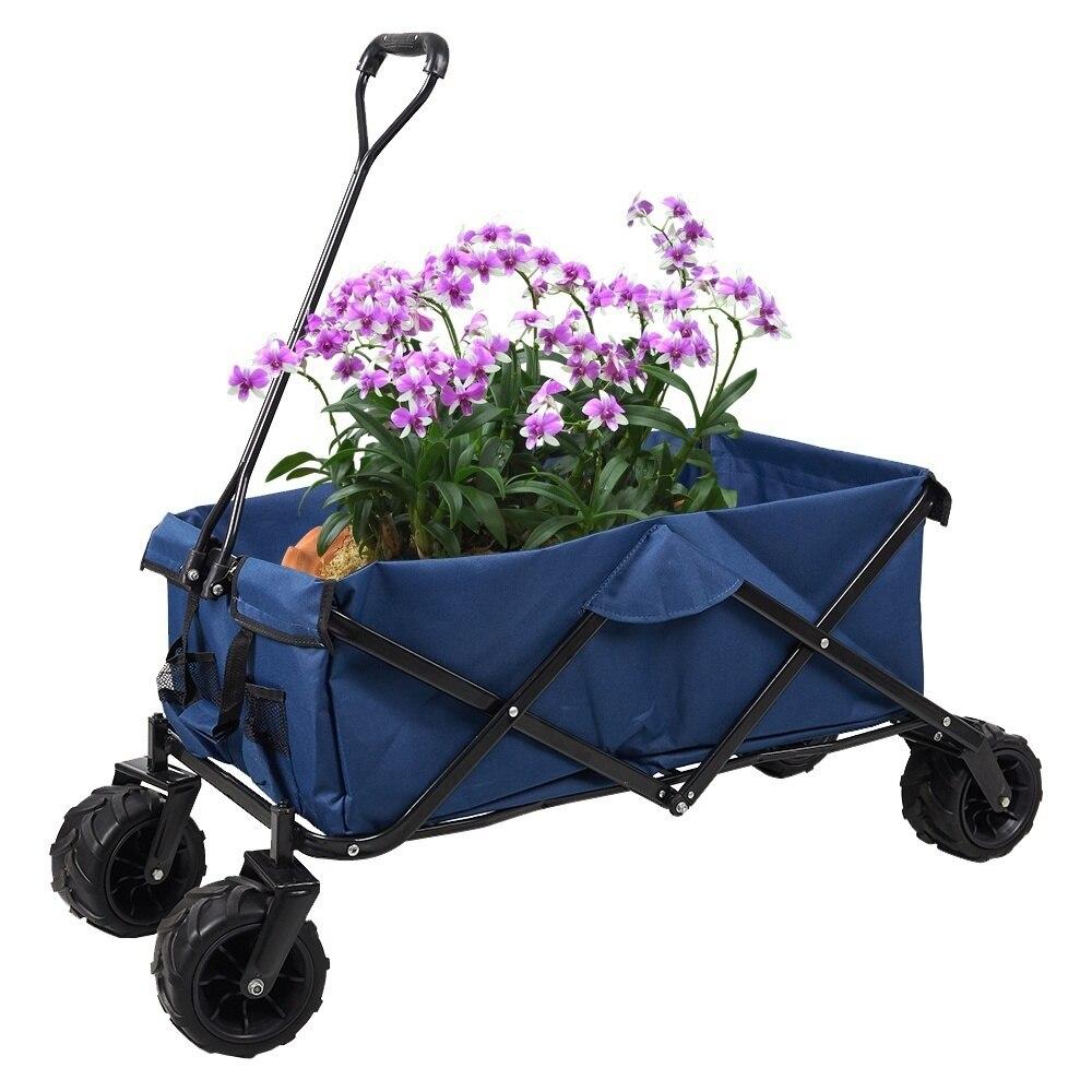 Außenklapp Wagon Faltbare Utility Warenkorb Ablagekorb Garten Wagen Elegante Form
