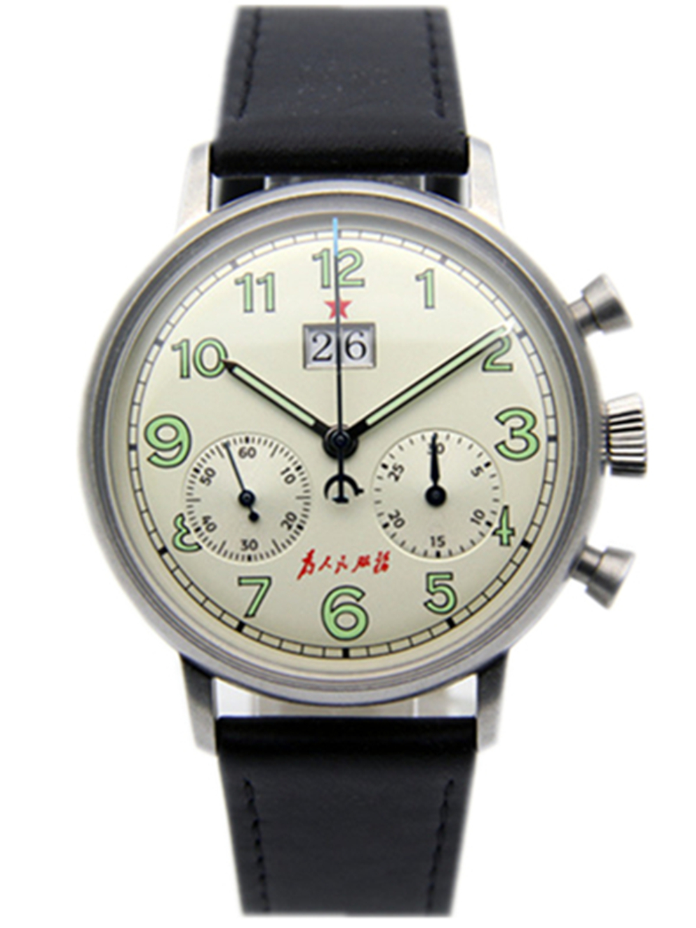 Seagull Movement Mechanical Chronograph Mens Wrist watch Pilot Officiall Reissue 304 St19 1963 Flieger big date CalendarSeagull Movement Mechanical Chronograph Mens Wrist watch Pilot Officiall Reissue 304 St19 1963 Flieger big date Calendar