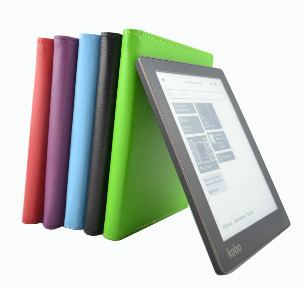 PU leather protective cover case for Kobo Aura 6 inch (Not HD) ereader+screen protector  free shipping original new lcd screen ed068tg1 for kobo aura h2o kobo aura h20 with backlight reader e book lcd displayl free shipping