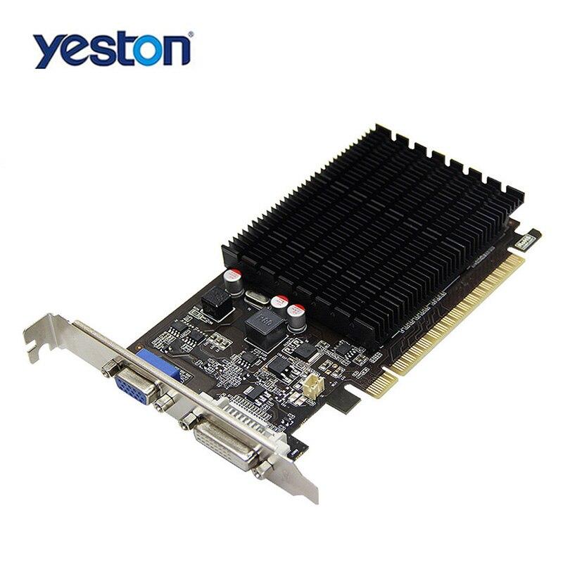 Yeston GeForce GT710 VC GPU 1 GB GDDR3 64bit Jeux D'ordinateur De Bureau PC Vidéo Cartes Graphiques Pour PCI-E X8 2.0