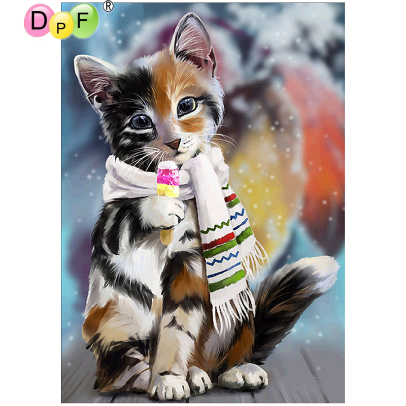 DPF DIY IceCream Cute Cat 5D crafts diamond painting cross stitch needlework diamond mosaic square home decor diamond embroidery