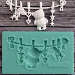 Image 1 - Yueyue Sugarcraft Bear Silicone mold fondant mold cake decorating tools chocolate gumpaste mold